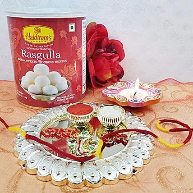 Acrylic Round Sweet Thali