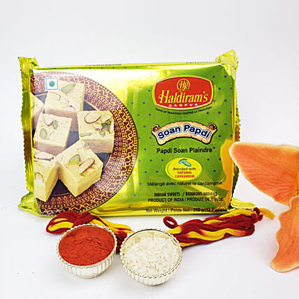 Bhai Dooj Gift Set Of Soan Papdi:Sweets Delivery in Canada