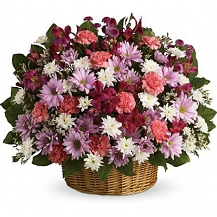 Big Flowers Basket:Flower Arrangements in Canada