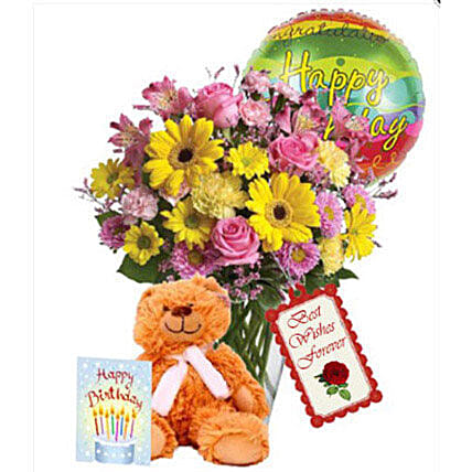 Birthday combo Special:Send Mixed Flowers to Canada