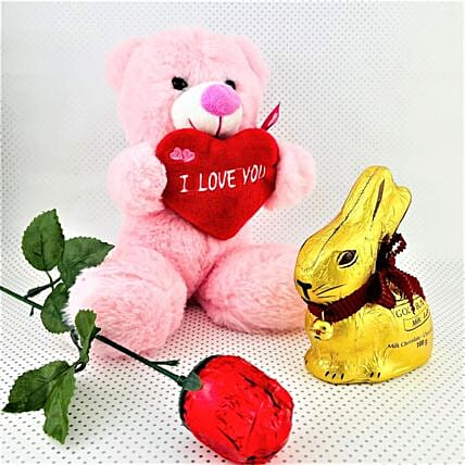 Bunny Chocolate With Love You Teddy