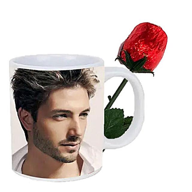 Choco Rose and Personalized Mug Combo