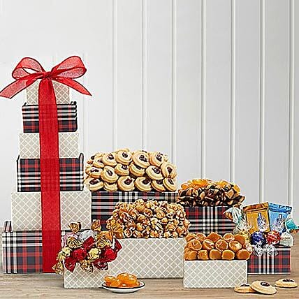 Chocolate and Sweets Tower:Gift Baskets Delivery Canada