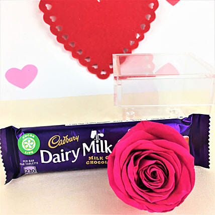 Chocolates N Forever Rose Combo