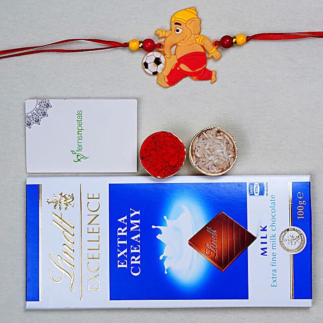 Creative Ganesha Kids Rakhi And Lindt Chocolate:Kids Rakhi to Canada