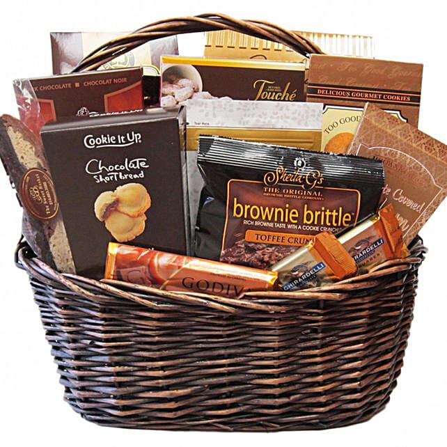 Delectable Shiva Comfort Food Basket:Diwali Gift Hampers