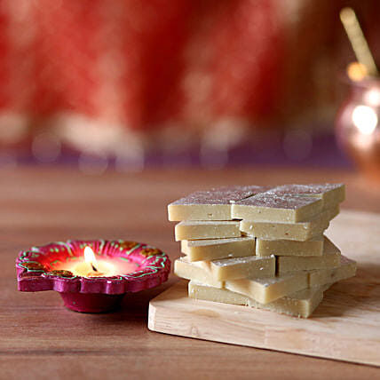 Diwali Celebrations With Kaju Katli