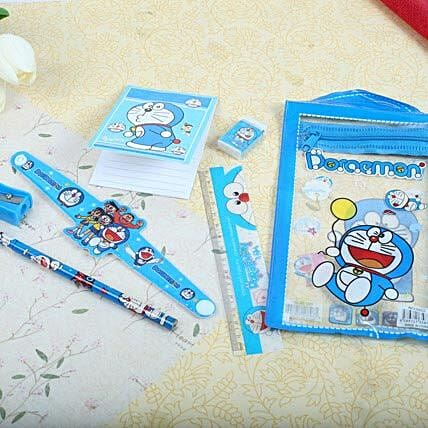 Doraemon Stationary Set Rakhi