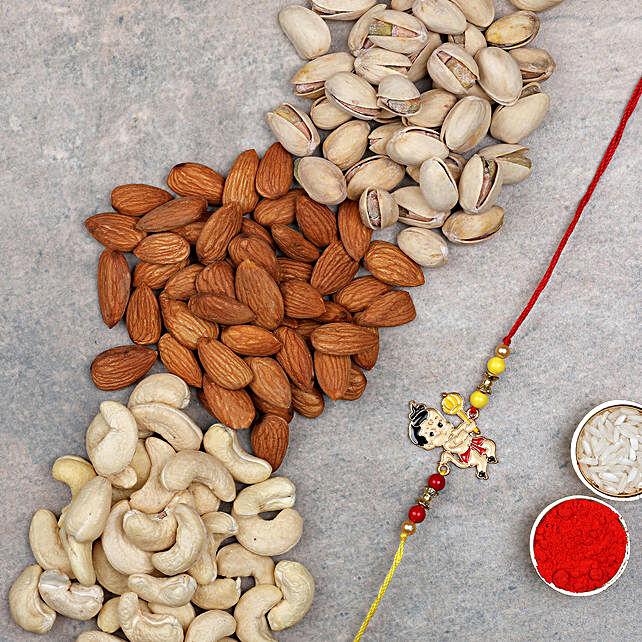 Dry Fruits N Bal Hanuman Rakhi