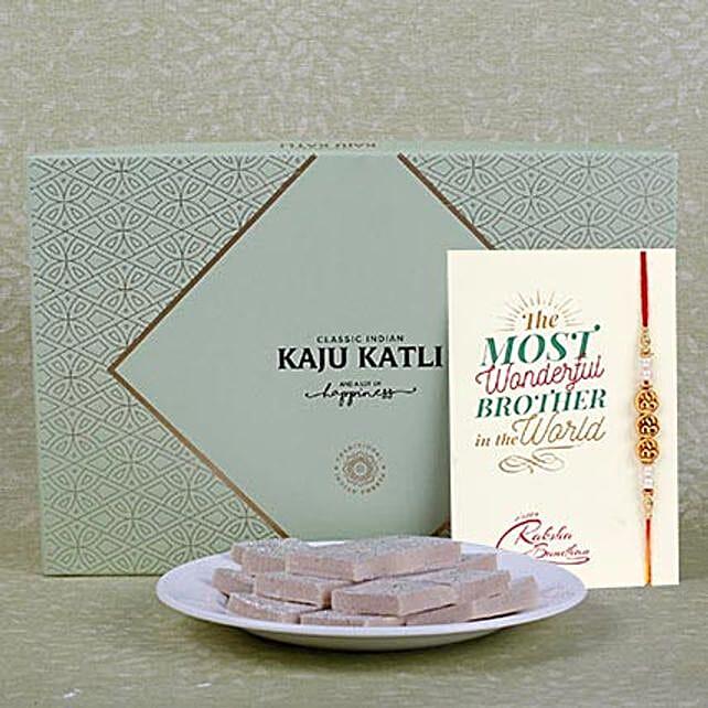 Embellished Rakhi With Kaju Katli