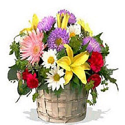 Eternal Basket:Send Mixed Flowers to Canada