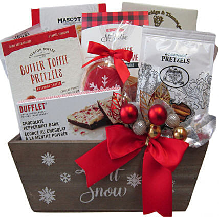 Exotic Holiday Celebration Basket For Christmas