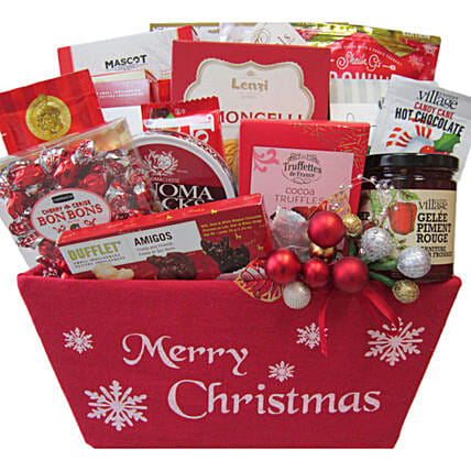 Festive Gift Basket For Christmas