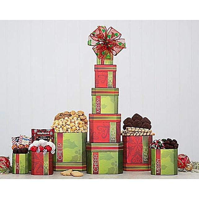 Festive Gourmet Gift Tower