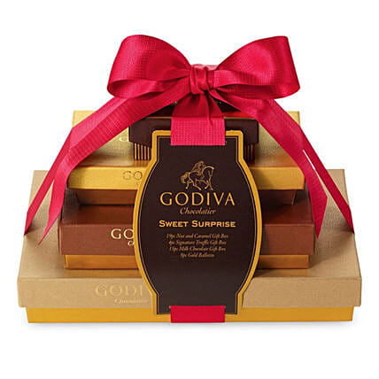 Festive Surprise Collection By Godiva:Gift Baskets Delivery Canada