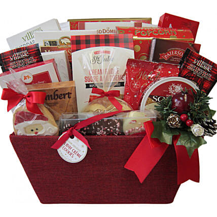Fireside Treats Gift Basket For Christmas