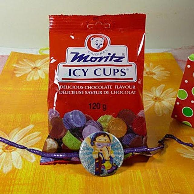Ganesha Kids Rakhi with Icy Cups