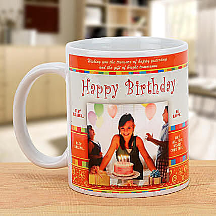 Happy Bday Personalized Mug:Personalised Mugs to Canada