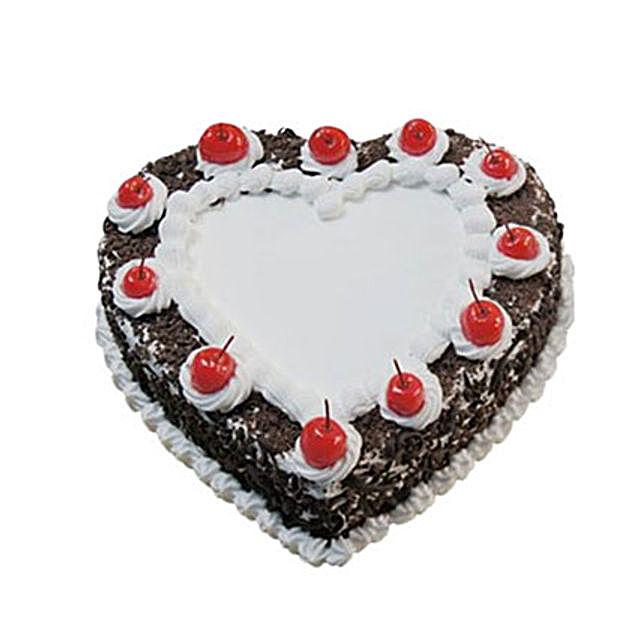 Heartshape Black Forest Cake 500GM