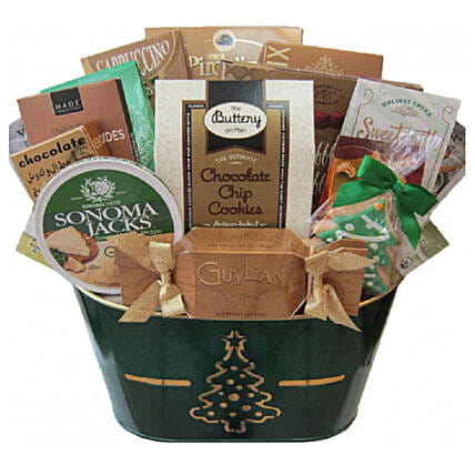 Holiday Delights Celebration Basket For Christmas:Gift Baskets Delivery Canada