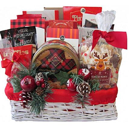 Holiday Traditions Gift Basket For Christmas