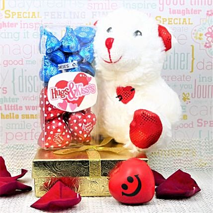 Hugs And Kisses In A Gift Box:Send Gift to Canada Same Day Delivery