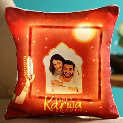 led photo cushion for karwa chauth