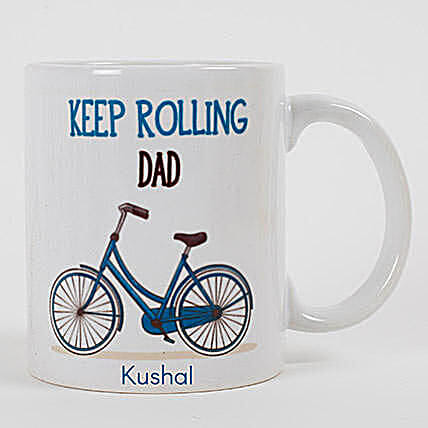Keep Rolling Personalized Mug For Dad:Father's Day Gifts in Canada