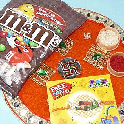 Kids Rakhi Thali With M and Ms