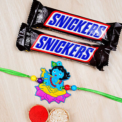 Krishna Rakhi For Kids With Snickers:All Rakhi - Canada