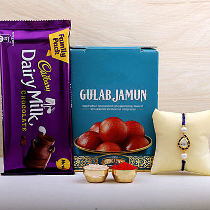 Kundan Rakhi N Gulab Jamun With Cadbury:All Rakhi - Canada