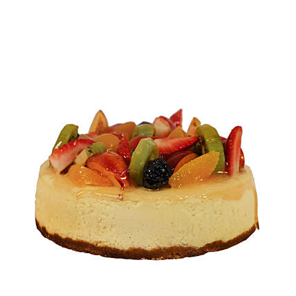 Local Farm Seasonal Fresh Fruit Vanilla Bean Cheesecake