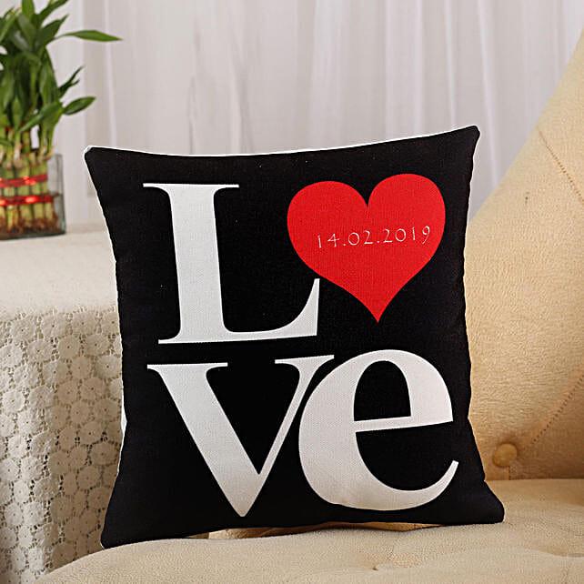 Love Cushion Black
