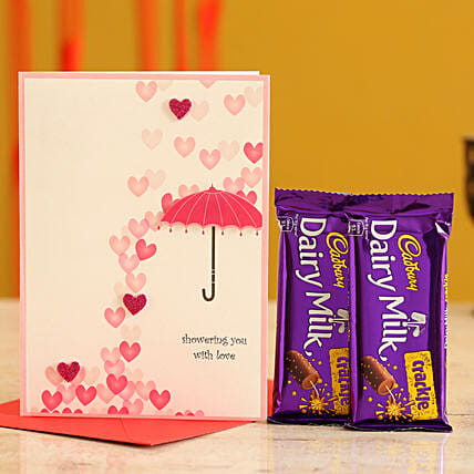 Valentines Card & Chocolates for Wife