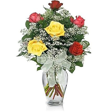 Lovely Mixed Roses Arrangement