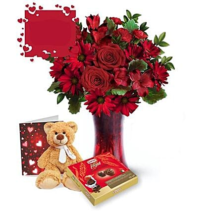 Make It Special Valentine Gift Set:Send Roses to Canada