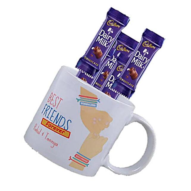 Personalised Best Friend Mug and Chocolate Combo