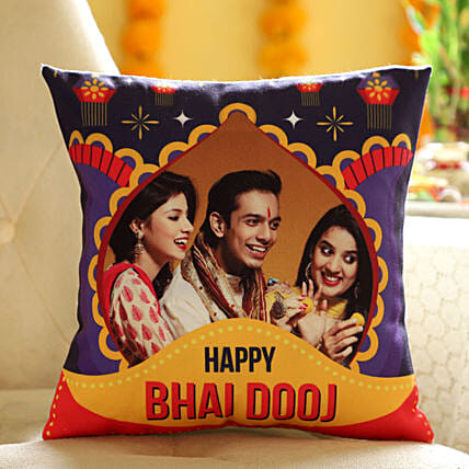 Online Personalised Cushion For Brother:bhai dooj personalised gifts