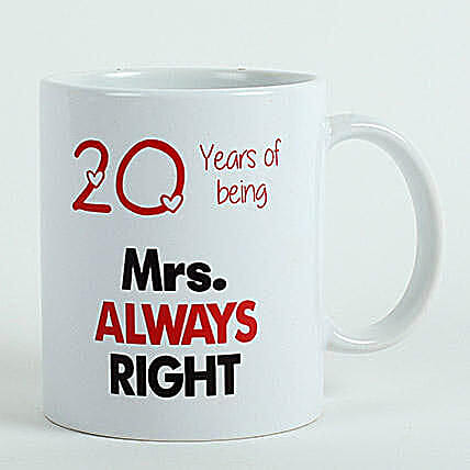 Personalised Mrs Right Mug