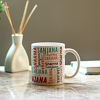 Personalised Multicolored Name Mug