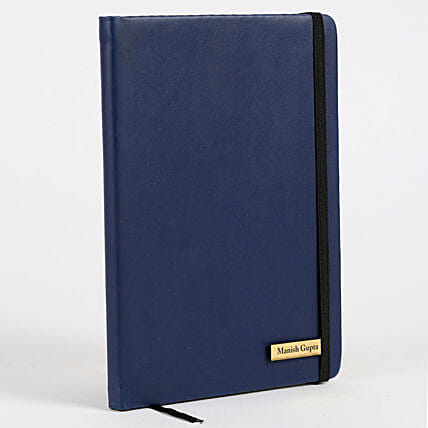 Personalized Blue Notebook:New Year Gifts in Canada