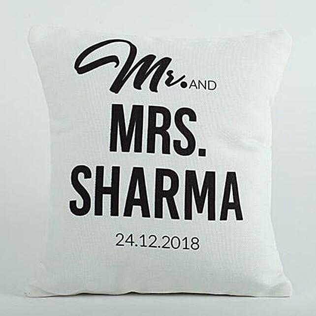 Personalized Cushion Mr N Mrs