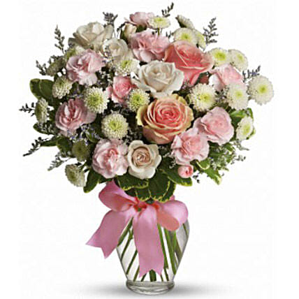 Pink Flowers Bouquet:Flower Arrangements to Canada