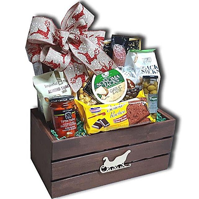 Premium Yuletide Festive Basket:Christmas Gifts to Canada