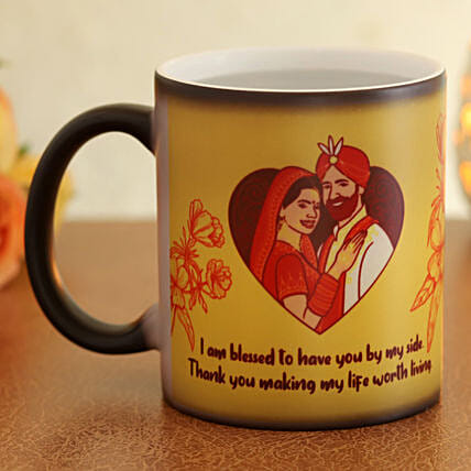 online magic mug for karwa chauth