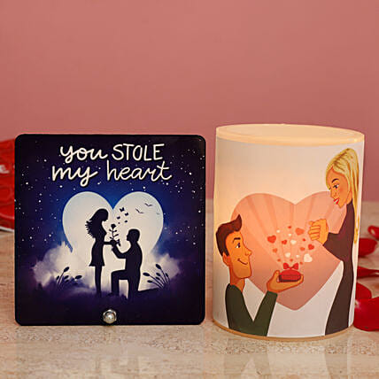 Propose Day Hollow Candle