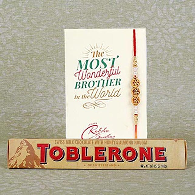 Rakhi With Toblerone Chocolate