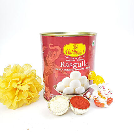 Rasgulla And Ganesha Idol Diwali Gift Set