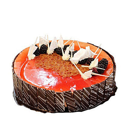 Red Current Chocolate Mousse Cake