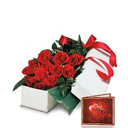 Red Roses Gift Box:Bouquet Delivery in Canada
